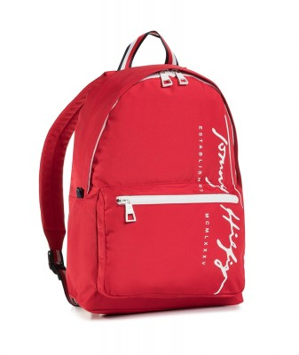 TOMMY HILFIGER TH SIGNATURE BACKPACK RED