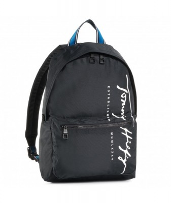 TOMMY HILFIGER TH SIGNATURE BACKPACK ΜΑΥΡΗ